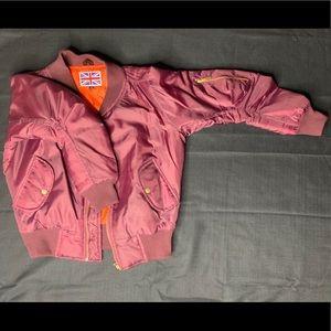 Maroon Short Bomber Jacket